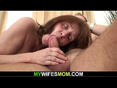 Busty mother inlaw forced to suck and ride his ...