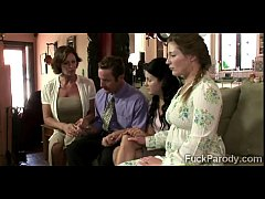 Religious family demonstrate their faith to a l...