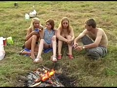 Hot Russian outdoor party   Amateur Porn Videos...