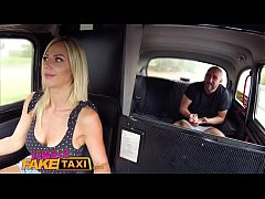 Female Fake Taxi Busty blonde rides lucky passe...