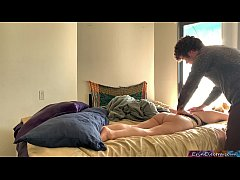 Stepmom gets turned on when her stepson rubs he...