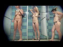 Spycam in real female public shower rooms