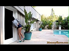 Busty stepmom scissoring with perfect teen