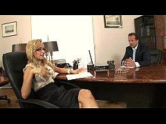 Boss fucks his stunning blonde secretary Aleska...