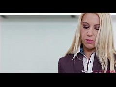 Blonde slut Nikky Thorn Cheats on her husband w...