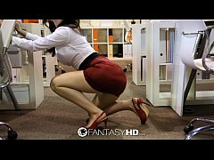 HD FantasyHD - Naughty secretary Lily Carter fu...
