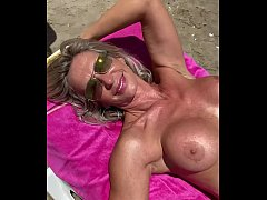 Marina Beaulieu, 59 years old, playing with dil...