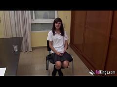 Back to school with Ainara. A 18yo schoolgirl t...