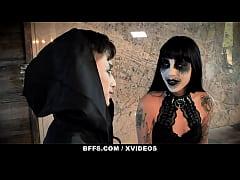 BFFS - 3 Teens Go Bisexual In A Hardcore Halloween Orgy