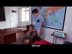 MILF - Naughty Boy Gets Punished By Hot Milf Te...