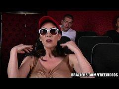 Brazzers - Dude fucks stepmom in the porn theater
