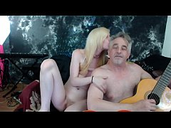 Real couple making love. Old young taboo relati...