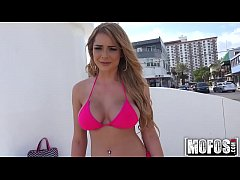 Bikini Blonde Flashes for Cash video starring S...
