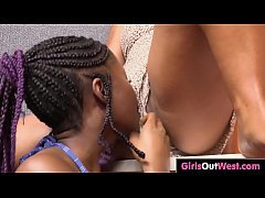 Exotic hairy lesbians enjoy pussy licking and r...