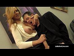 Busty Blonde Milf Julia Ann Milks Cum From Rock...