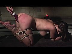 Incredible beauty Zafira tied, humiliated and spanked. Part 3.