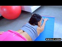 Yoga teen Megan Rain has a perfect ass and gets...