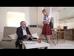 Tricky Old Teacher - Hottie passes a sex test o...