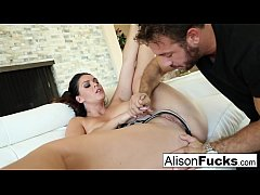 Beautiful Alison Tyler takes on a big cock and ...