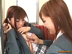 Schoolgirl Kissing Getting Her Tits Rubbed Nipp...