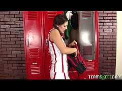 naughty brunette punished by her coach by fucki...