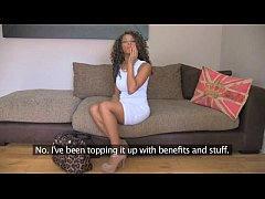 FakeAgentUK Inexperienced ebony amateur gets du...