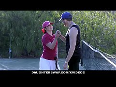 DaughterSwap - Cute Tennis Girls Fucked by Step...