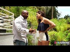 Abella Danger gagging on big black dick before ...
