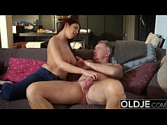 Busty escort first time serving a daddy her big...