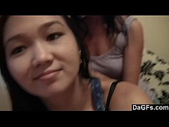 Rita teases her Asian girlfriend and makes her cum