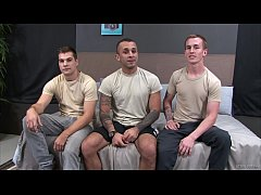 ActiveDuty - 3 Military Studs Jerk Off & Fuck Raw