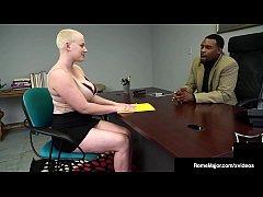 Hot Buzz Cut Beauty Riley Nixon Busts Black Nut...
