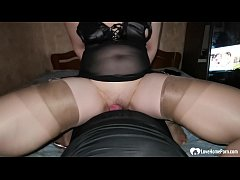 Hot stepdaughter in lingerie sucks a cock