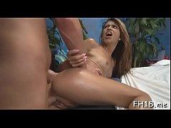 Elegant brunette Veronica Rodriguez enjoys ever...