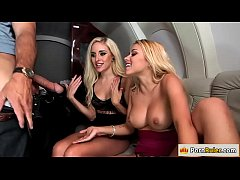 Hot blondes riding rich guys dick