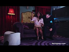 Black girl is a deluxe escort and fucks her big...
