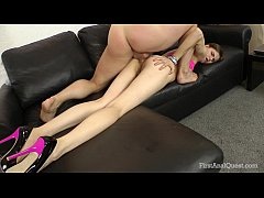 FirstAnalQuest.com - ANAL PLAY WITH A LEGGY TEE...