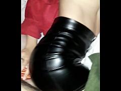 Leather mini skirt cogiendo esposa fuck wife