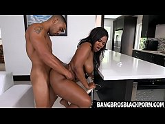 Hot black girl with a great ass gets fucked har...