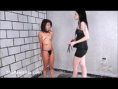 Brazilian slave Pollys lesbian BDSM and electro...