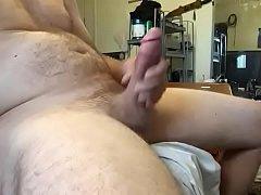 Beating off big cock
