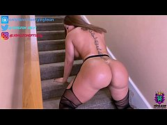Hot amateur wife climbed her big ass upstairs t...