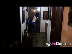Horny delivery guy cannot wait to stick his dic...