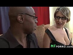Teacher with glasses tries big black dick Velic...