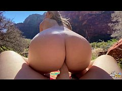 Perfect Body Hiker Fucked Hard in Nature - Moll...