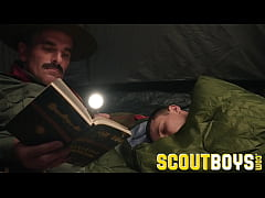 ScoutBoys - Austin Young fucked outside in tent...