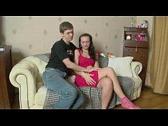 Brunette Russian Teen Skinny Anal