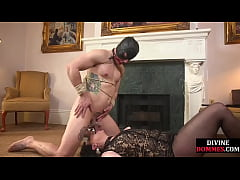 Divine domme gives cbt cockplay and anal sex wi...