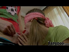 Step Sis Gets Blindfolded And Fucked!