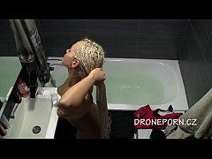 Stela masturbating in the bath